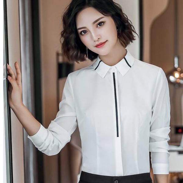 职业装衬衫女长袖