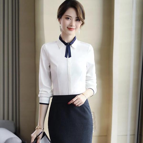 女士长袖白衬衣